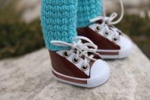 Кроссовки 5см (подходят на куклу Paola Reina) цв.коричневый