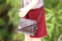 Сумочка для куклы цв. коричневый