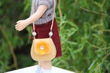 Сумочка для куклы цв. бежевый