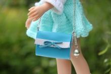 Сумочка для куклы цв. бирюза