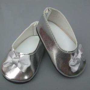 Туфельки для кукол  7,5см серебро