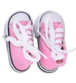 Кеды для кукол  на шнурках 7,5см розовые