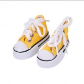 Кеды для кукол  на шнурках 7,5см желтые