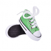 Кеды для кукол  на шнурках 7,5см зеленые