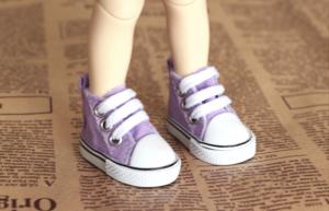 Кеды для кукол  на шнурках 5см сирен.