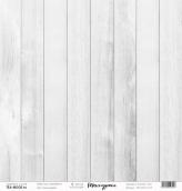 """Лист  бумаги """"Текстурная"""", размер 30,5 х 30,5 см, """"Белое дерево"""""""