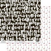 """Лист бумаги """"Счастливая"""", размер 30,5 х 30,5 см """"Месяца"""""""