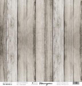"""Лист  бумаги """"Текстурная"""", размер 30,5 х 30,5 см,""""Старое дерево"""""""