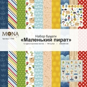 "Набор бумаги MoNa Design ""Пират"" 12 односторонних листов 305х305мм"