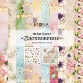 """Набор бумаги MoNa Design """"Вдохновение"""" 12 односторонних листов 305х305 мм"""