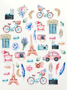 """Набор высечек """"Однажды в Париже""""  43 элемента"""