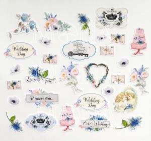 Набор высечек Свадебная история 30 элементов