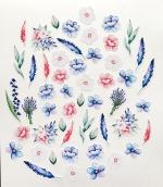 """Набор высечек """"Цветы"""" коллекция Однажды в Париже 52 элемента"""