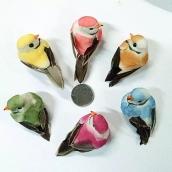 Птица цв. зеленый 7см*3,5см