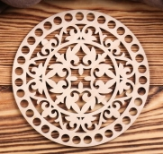 """Заготовка для вязания """"Круг. Пика"""" 15 см, 4 мм фанера 4672101"""