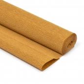 Бумага гофрированная Италия 50см х 2,5м 140г/м цв.967 св.коричневая