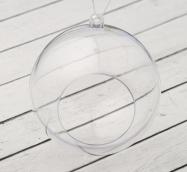 Заготовка - подвеска, раздельные части «Шар с отверстием», диаметр собранного: 8 см