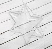 Заготовка - подвеска, раздельные части «Звезда 6-ти конечная», размер собранного: 4.3*10 *10 см