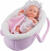 05102 Кукла Бэби в розовой переноске, 32 см