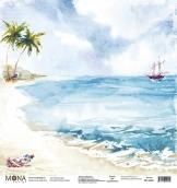 """Лист одност.""""Райский остров"""" Райские острова 190 гр 30,5х30,5 см"""