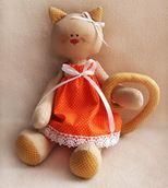 """Набор для изготовления текстильн. игрушки  """"Кошечка"""" 27 см"""