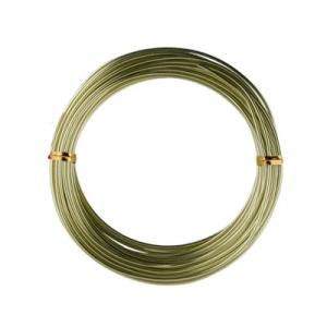 """""""WW-art"""" Проволока для плетения алюминий AW-1 d 1 мм 10 м ±0.5 м под серебро"""