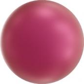 """Бусина стеклян """"Сваровски"""" 5810 6 мм 5 шт под жемчуг  кристалл бл. малиновый (mulb. pink 2018)"""