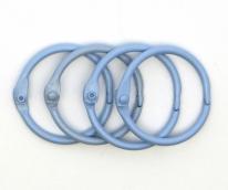 Кольца для альбомов  голубой 40 мм уп.4 шт
