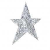 Термоаппликации №5 12 шт Россия 5-12 Звезды серебро 7х5 см