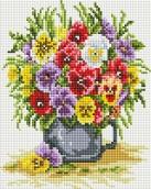 Набор Белоснежка для изготовления картин со стразами  Цветочное счастье 20х25 см