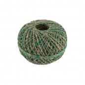 Нитки Шпагат льняной с зеленой нитью ШЛЗН 100% лён 100 м 109 я суровый/зеленый
