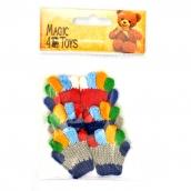 Перчатки для игрушек вязанные 5-6см цв.ассорти 1 пара