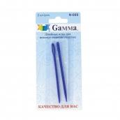 """Иглы для шитья ручные """"Gamma"""" для вязаных изд N-009 в блистере 2 шт."""