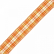Лента шотландка с метанитом 30мм  цв. оранжевый 1 м