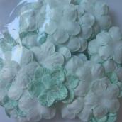 Лепестки бумажные с принтом, диам 23 мм, Голубой узор, ок 50 шт в уп