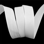 Лента Ideal репсовая в рубчик шир.25мм цв. 029 белый