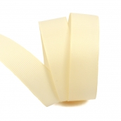 Лента Ideal репсовая в рубчик шир.25мм цв. 815  кремовый