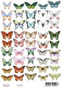 "Набор картинок для декорирования ""Бабочки 1"" А4"