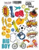 """Набор наклеек (стикеров) #052, """"Cool Teens"""""""