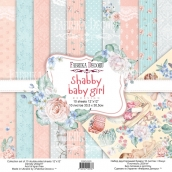 "Набор скрапбумаги ""Shabby baby girl redesign"" 30,5x30,5см"
