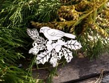 Чипборд Птичка на ягодках