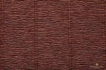 Бумага гофрированная Италия 50см х 2,5м 180г/м2 цв.568 коричневый
