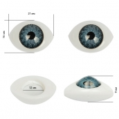 Глаза круглые выпуклые цветные 21мм цв.серый 1шт