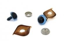 Глазки с фиксатором, веко двустороннее №10 цв.голубой 16х19 мм уп.2шт