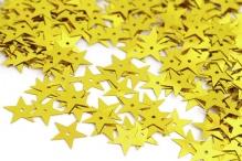 Пайетки россыпью Ideal 13мм цв.A007 звезда желтый уп.25г