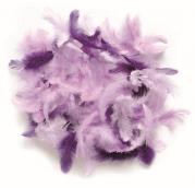 Декоративные перья лиловое ассорти 10г