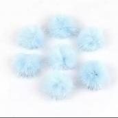 Помпон 2,5см голубой