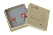 МП Роза (Серьги) Покрытие: Черненое серебро Вставка: Эмаль
