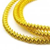 Канитель мягкая, фигурная-овал глянец, цв.золото 4мм уп.10 г