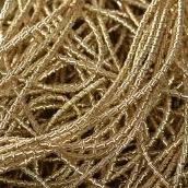 Канитель мягкая, фигурная глянец, цв.бледное золото 1,5мм уп.10 г